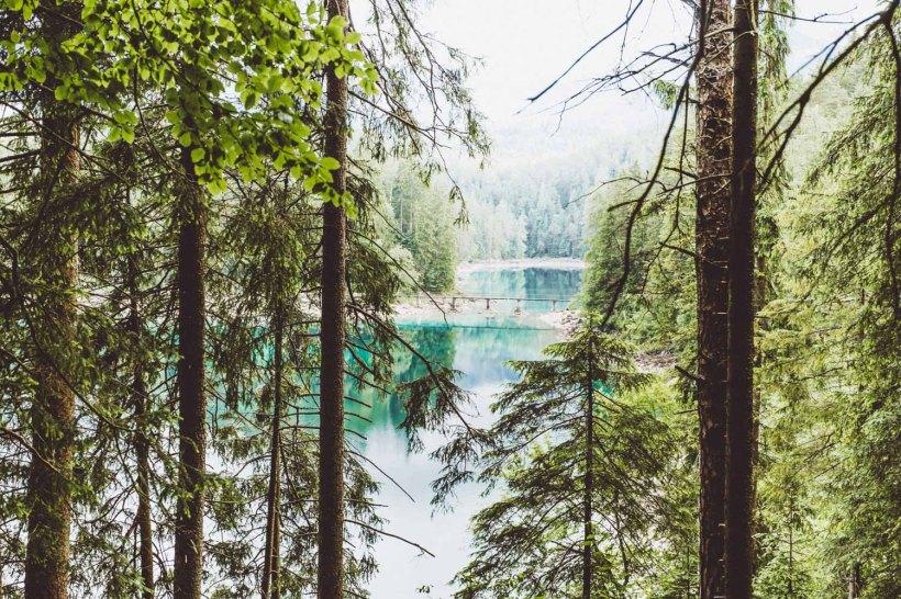 Blick auf den oberen See vom Rundweg