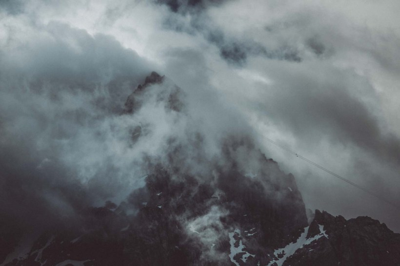 Die Wolken geben den Gipfel frei