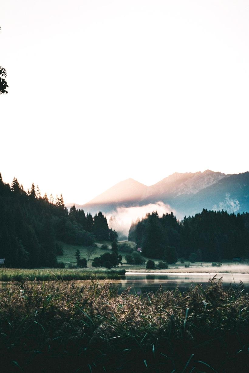 Durch den Nebel gezeichnetes Licht