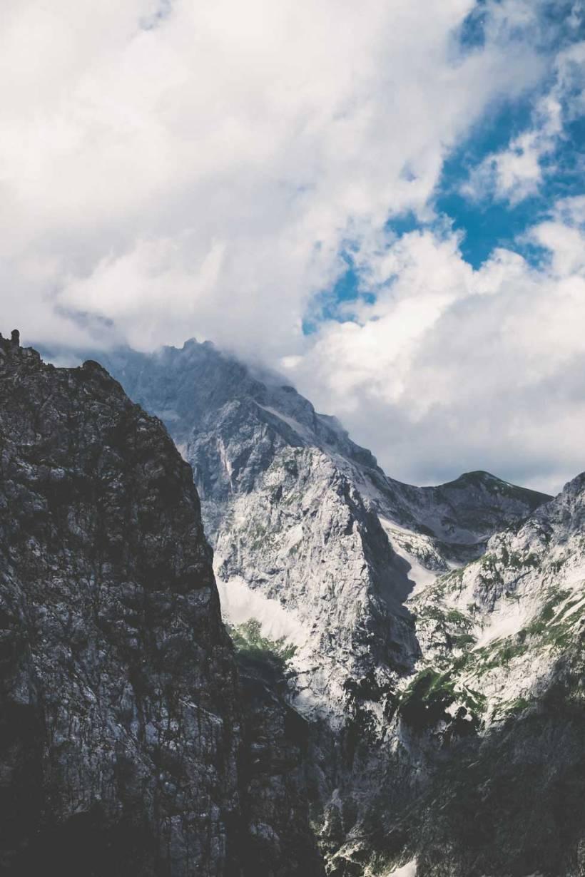 Der Blick in Richtung Zugspitze ist einmalig. Die Hochgebirgslandschaft bietet viele tolle Motive.